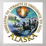 Poster de la fiesta del té de Alaska