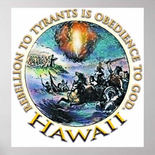 Poster de la fiesta del té de Hawaii