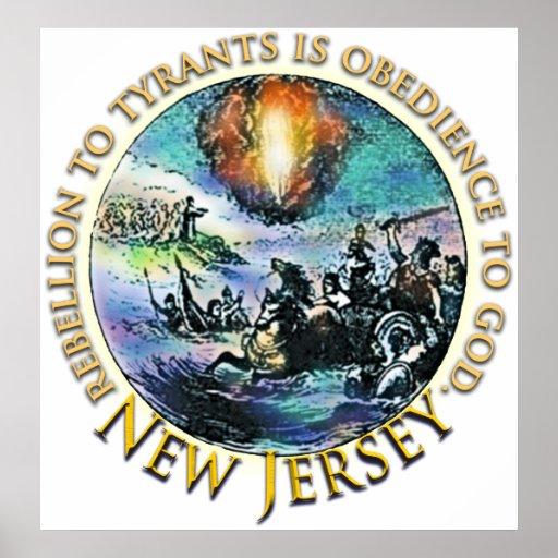 Poster de la fiesta del té de New Jersey