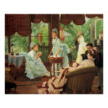 Poster de la fiesta del té del Victorian de James