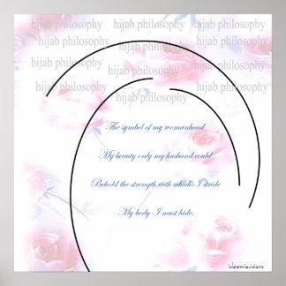 Poster de la filosofía de Hijab