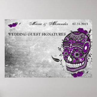 Poster de la firma de la huésped del boda del crán