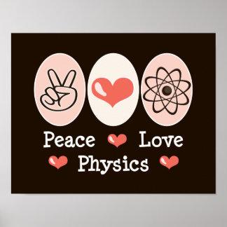 Poster de la física del amor de la paz