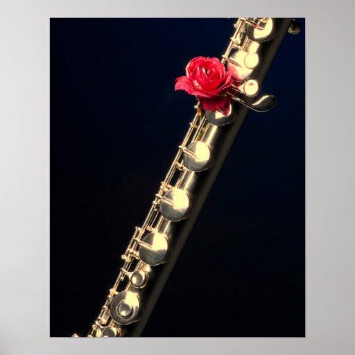 Poster de la flauta o del flautista