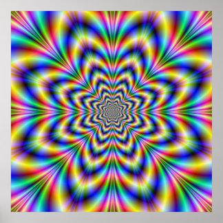 Poster de la flor del arco iris