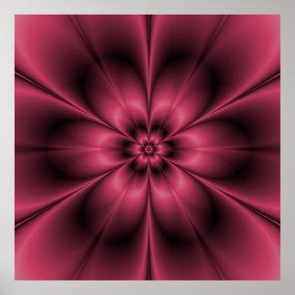 Poster de la flor del clarete