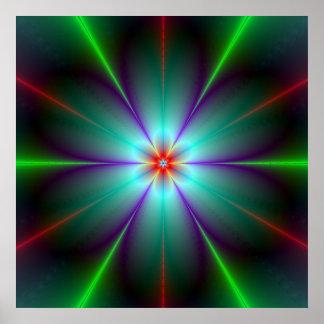 Poster de la flor del fractal