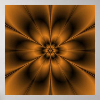 Poster de la flor del oro