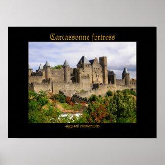 Poster de la fortaleza de Carcasona