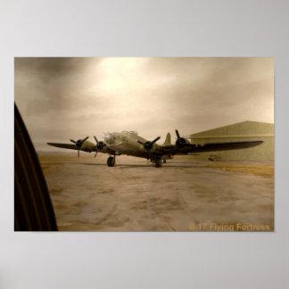 Poster de la fortaleza del vuelo B-17