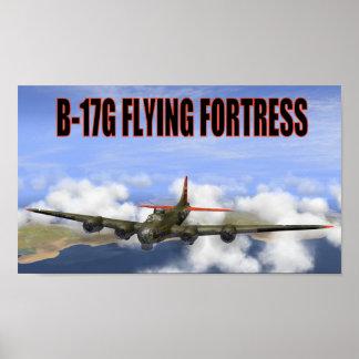 POSTER DE LA FORTALEZA DEL VUELO DE B-17G
