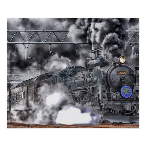 Poster de la foto de la locomotora/del tren