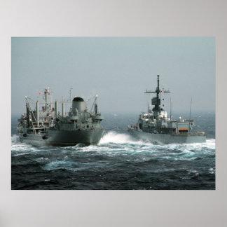Poster de la foto de la marina de guerra póster