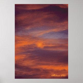 Poster de la foto de la puesta del sol