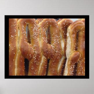 Poster de la foto de los pretzeles suaves de