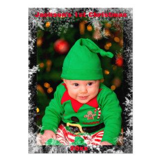 Poster de la foto del navidad de la familia fotografías