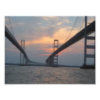 Poster de la foto del puente de la bahía de Chesap Fotografía