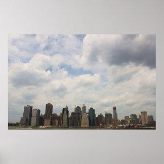 Poster de la fotografía de New York City Manhattan
