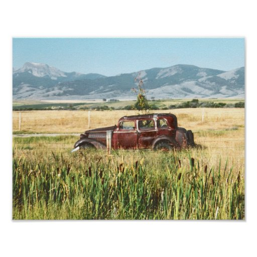 Poster de la fotografía del coche antiguo