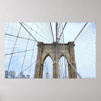 Poster de la fotografía del puente de New York Cit
