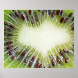 Poster de la fruta de kiwi