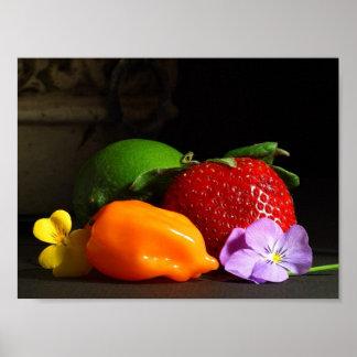Poster de la fruta y verdura