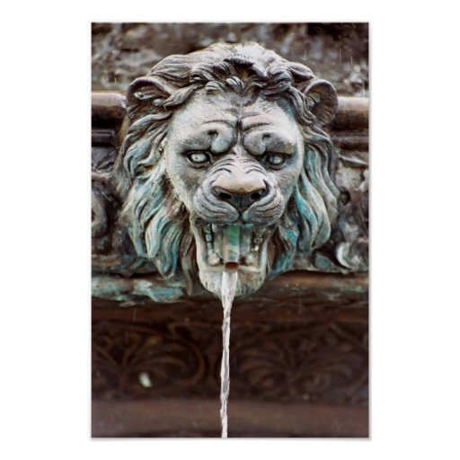 Poster de la fuente de agua del león
