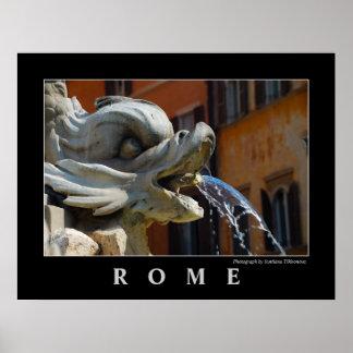 Poster de la fuente de Roma