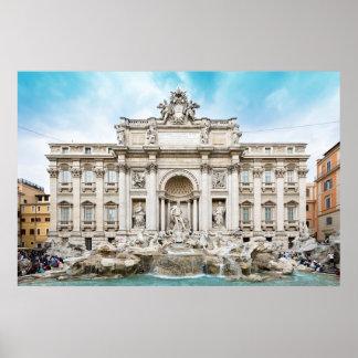 poster de la fuente del Trevi de Roma Italia A