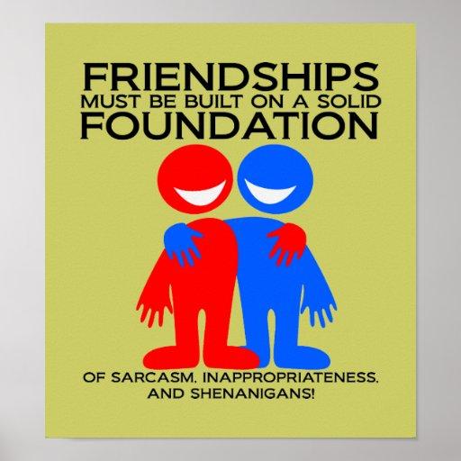 Poster de la fundación de la amistad póster