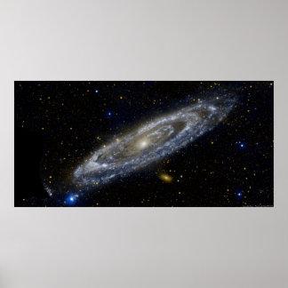 Poster de la galaxia del Andromeda