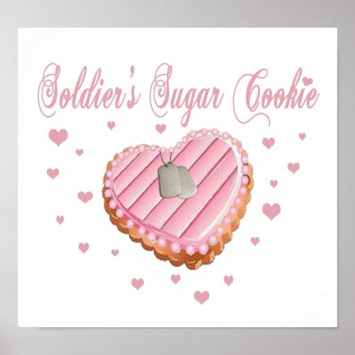 Poster de la galleta del azúcar del soldado