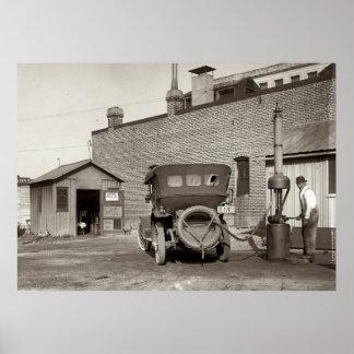Poster de la gasolinera del vintage
