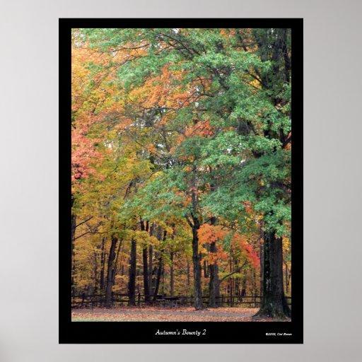 Poster de la generosidad 2 del otoño