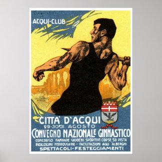 Poster de la gimnasia de 1920 italianos
