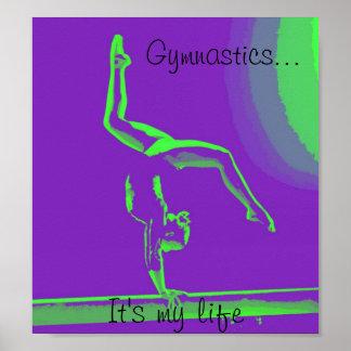 "Poster de la gimnasia ""es mi vida "" póster"