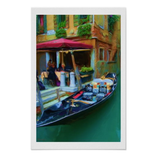Poster de la góndola de Venecia Italia