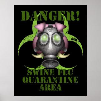 Poster de la gripe de los cerdos