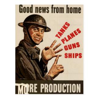 Poster de la guerra del vintage WWII Postal