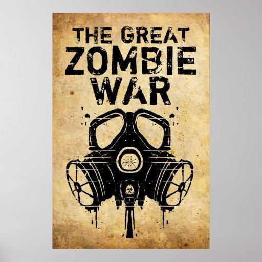 Poster de la guerra del zombi