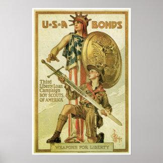 Poster de la guerra mundial del vintage 1 póster