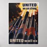 Poster de la guerra mundial del vintage 2
