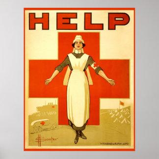 Poster de la guerra mundial del vintage de la enfe