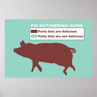 Poster de la guía del cerdo que mata
