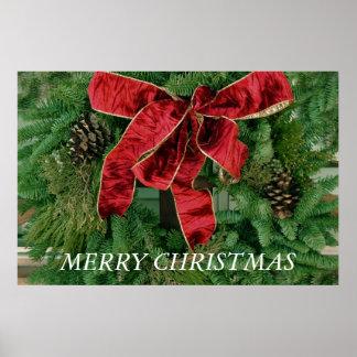 Poster de la guirnalda de las Felices Navidad