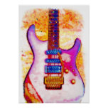Poster de la guitarra eléctrica