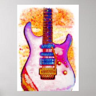 Poster de la guitarra eléctrica póster