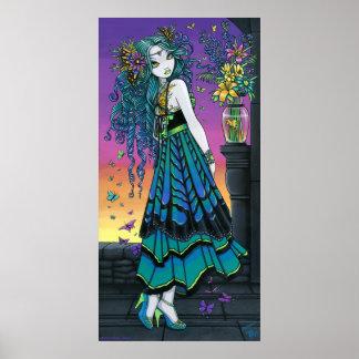 Poster de la hada de la mariposa del arco iris de