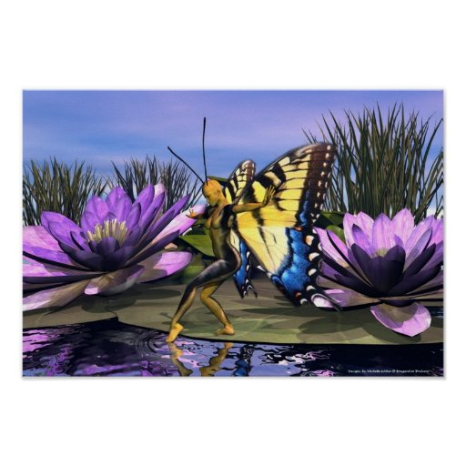 Poster de la hada de Swallowtail del tigre
