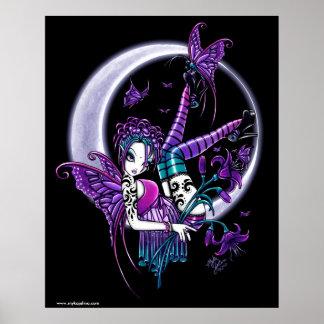 Poster de la hada del arco iris de la luna de la m